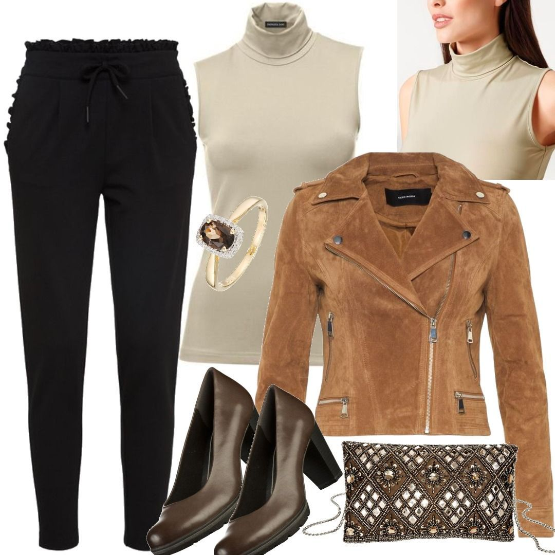 zum halben Preis jetzt kaufen zarte Farben VERO MODA Wildleder- Jacke Damen Braun Patrizia Dini By ...