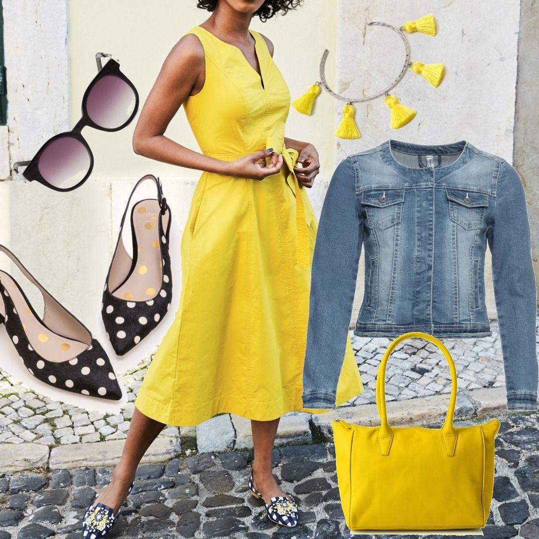Joyce Kleid Yellow Damen Boden. Size Gelb für Damen zum