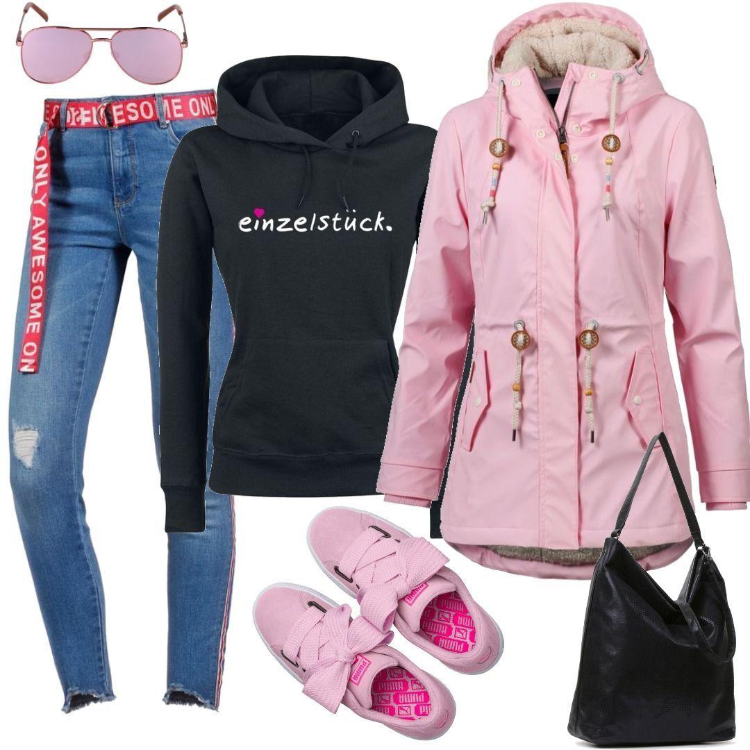 Regenjacke Pink Damen Für Zum Monadis Ragwear OuiPXZk