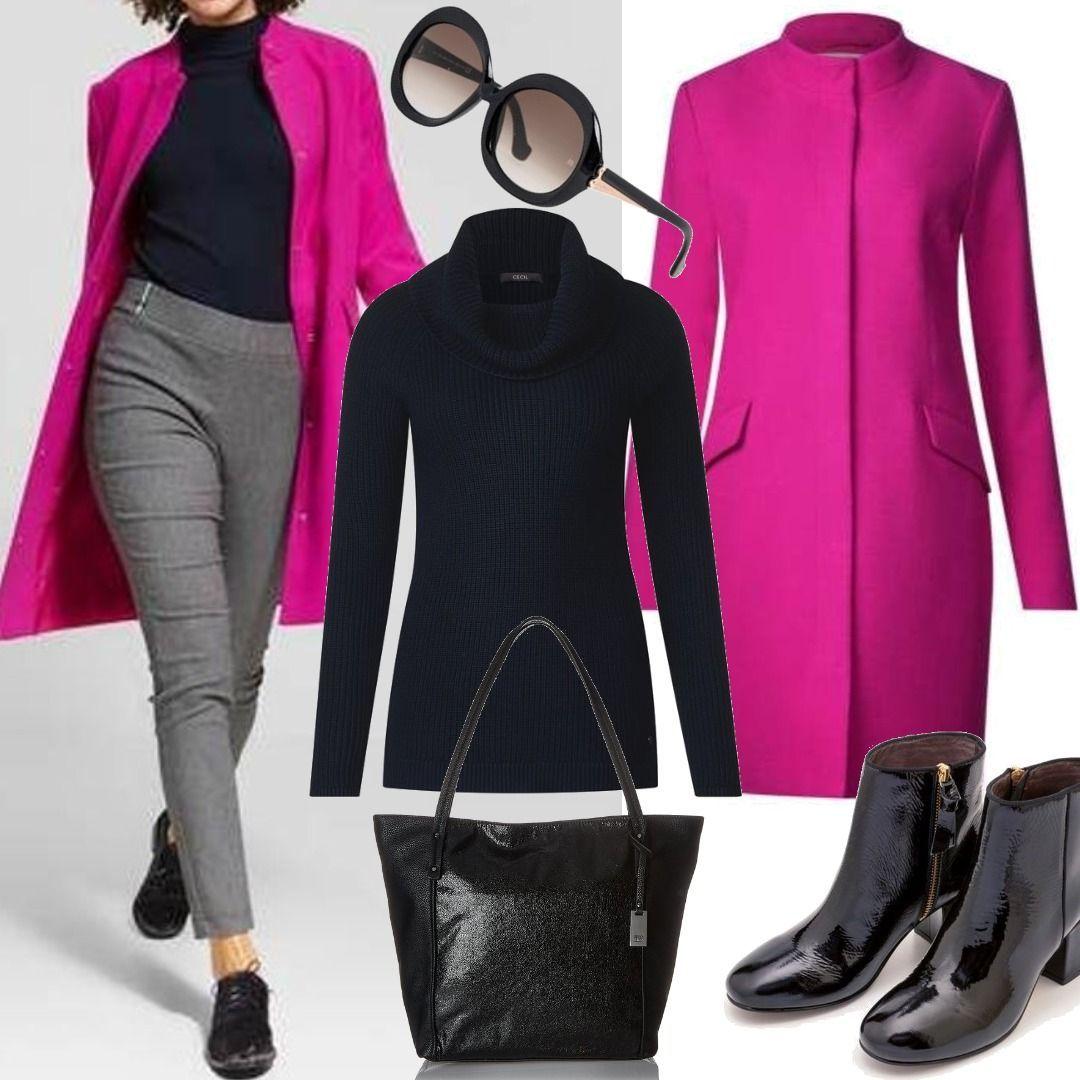 Street One Farbenfroher Mantel cyber pink für Damen zum