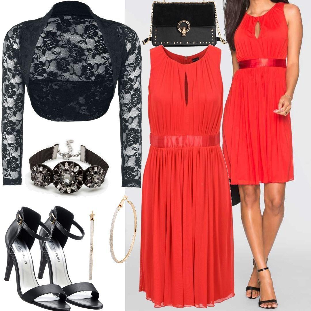 Kleid ohne Ärmel in Rot Bonprix für Damen zum Nachshoppen auf