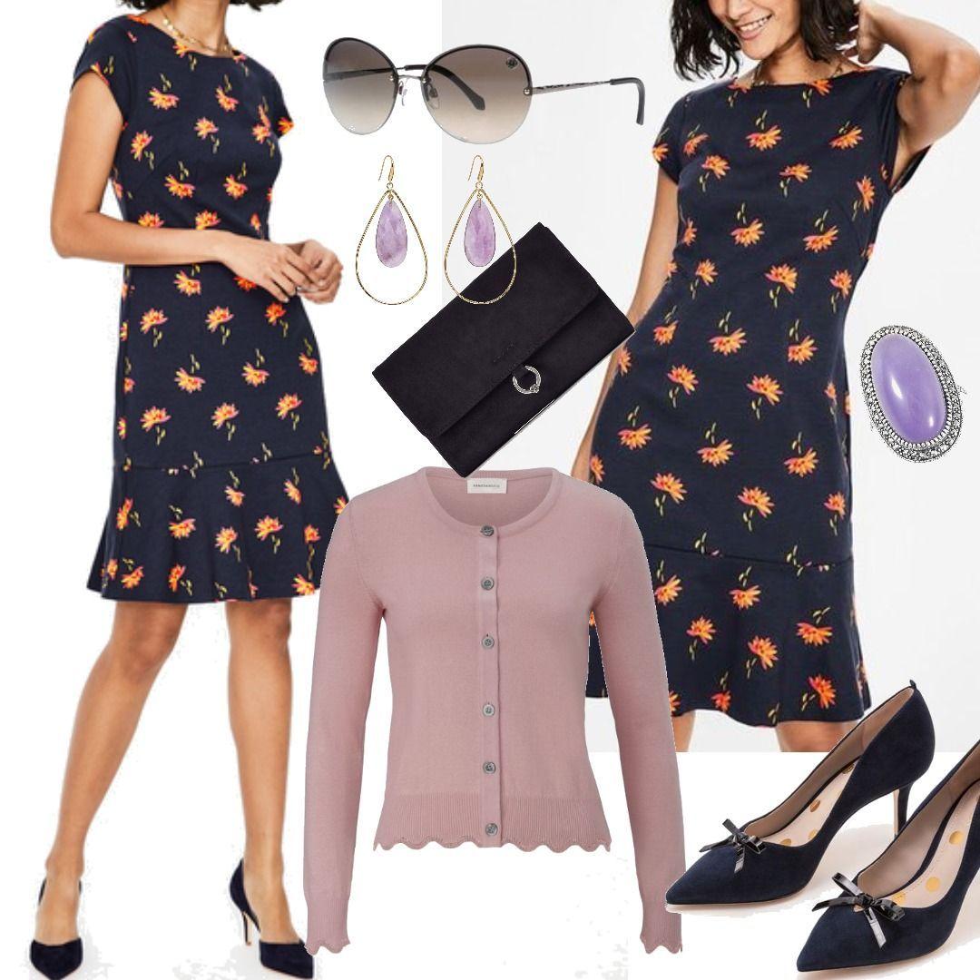 Rosetta Ponte-Kleid Navy Damen Boden für Damen zum Nachshoppen auf