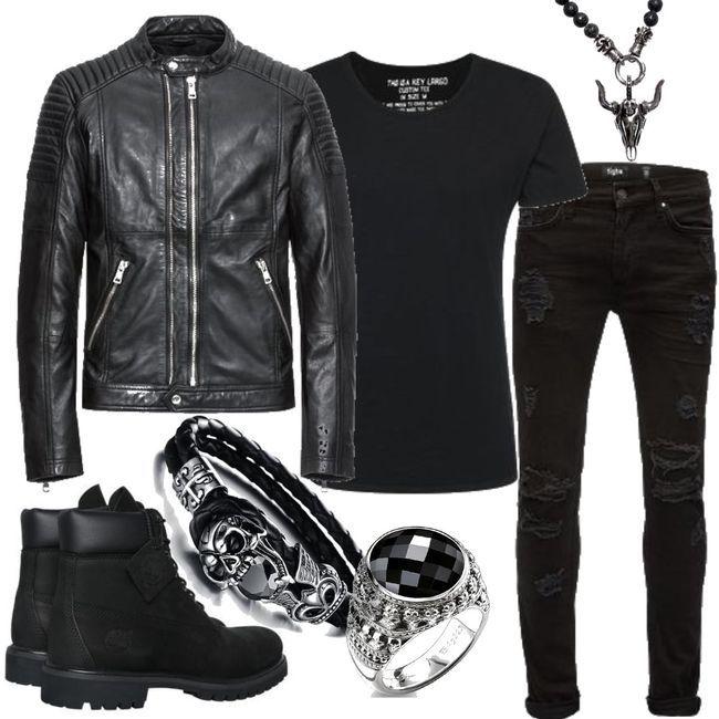TIMBERLAND Boots AF 6IN Premium Boot schwarz Men Outfit für